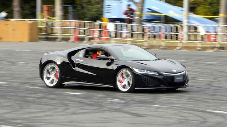 Honda's new hot car, the NSX making its demo rounds in the drift segment