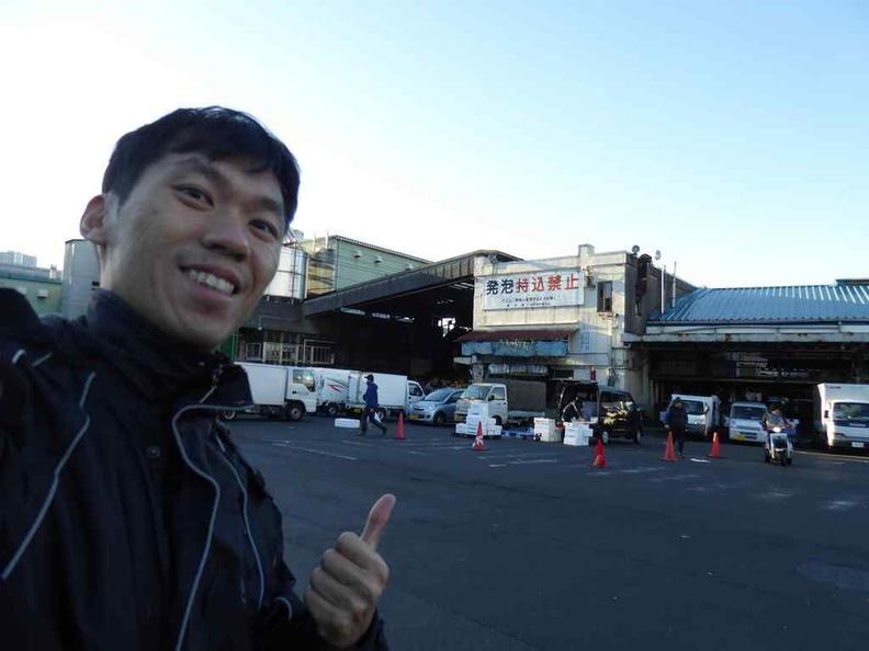 Here we are at Tsukiji market