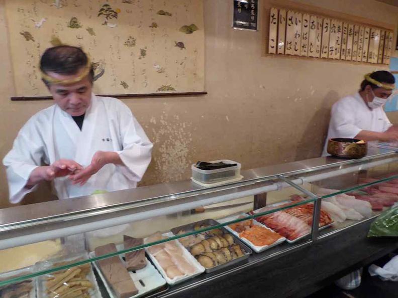 Fresh handmade sushi hand-made by a sushi master