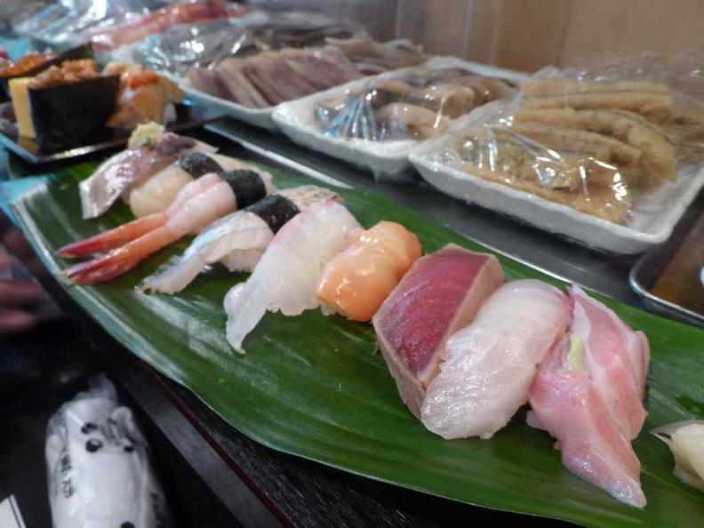 Fresh Sushi and Sashimi from the market