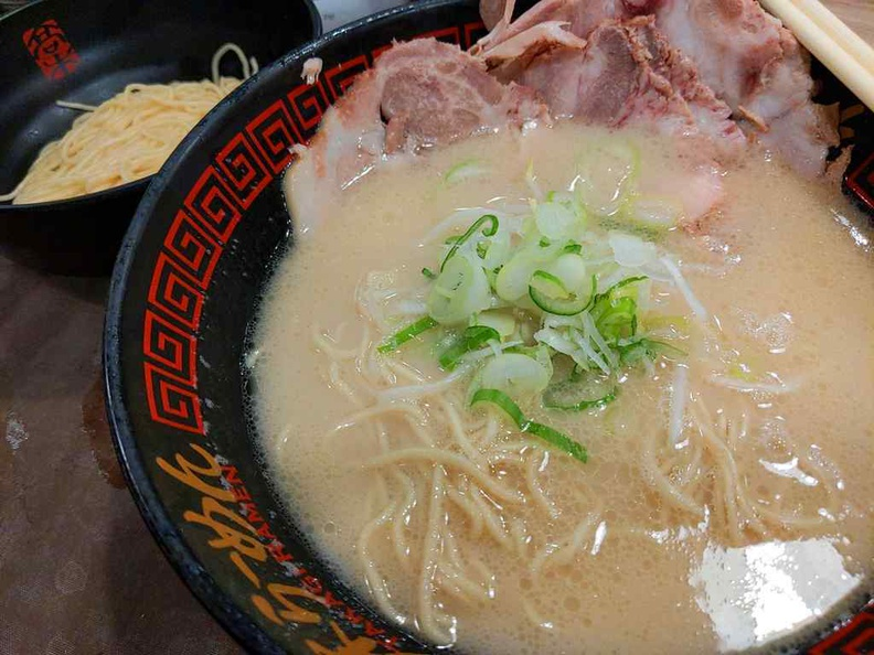 Takagi Ramen ($6.90) with free extra serving of noodles.