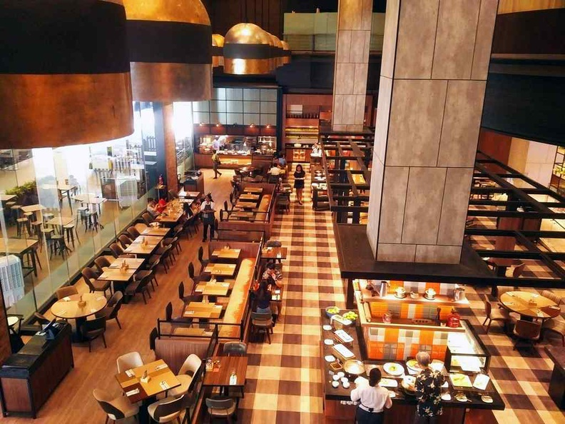 The buffet dining areas is vast and spacious