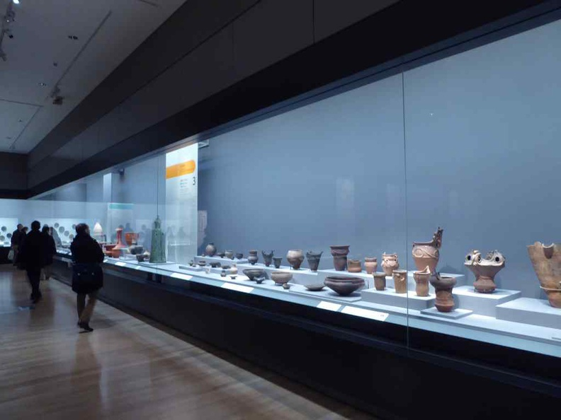 Tokyo National Museum pottery gallery.