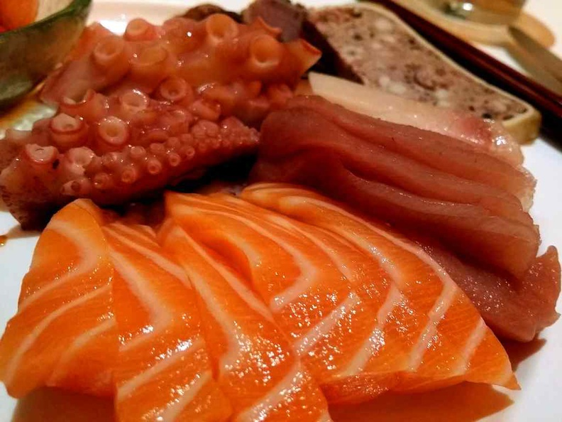 Salmon and fatty tuna offerings