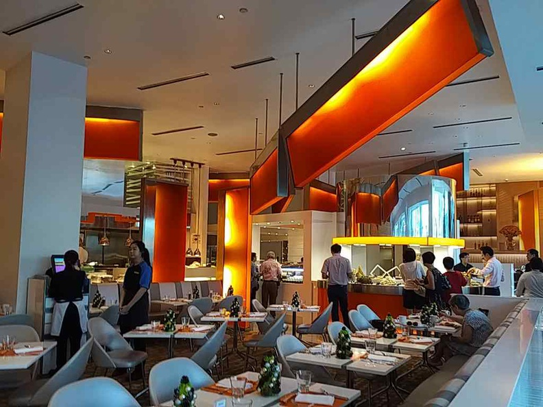 The line restaurant interior, as designed by Adam D Tihany