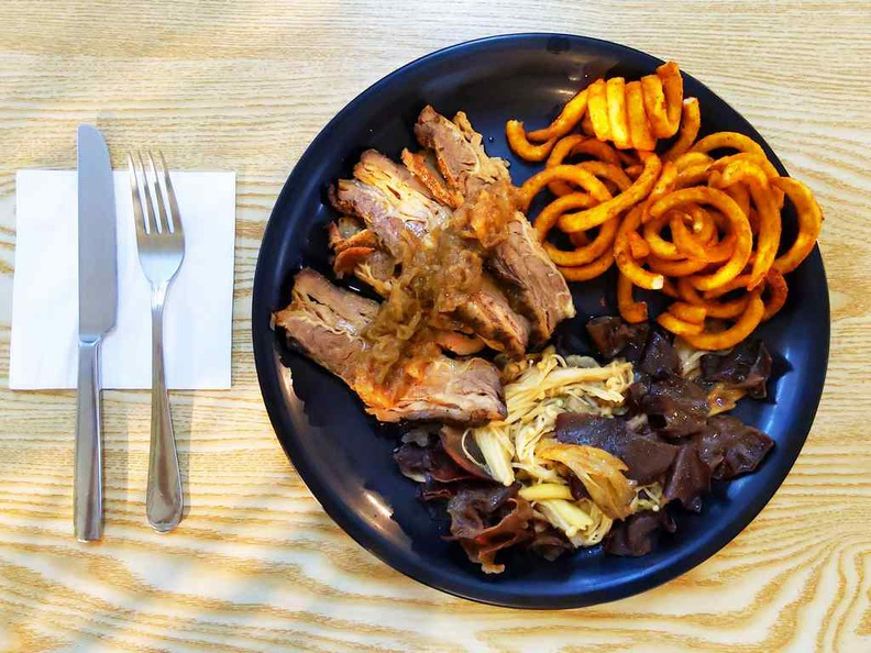 Meat and Greet beef brisket $24Meat and Greet at City sprouts sprout hub serves a mix of European grill and pasta dishes. Beef brisket $24