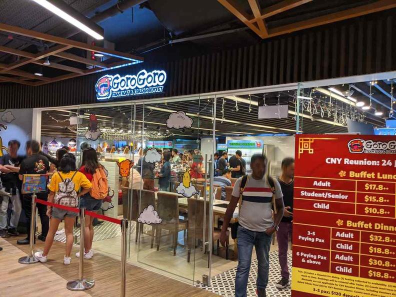 Storefront of Goro Goro Korean BBQ at centerpoint