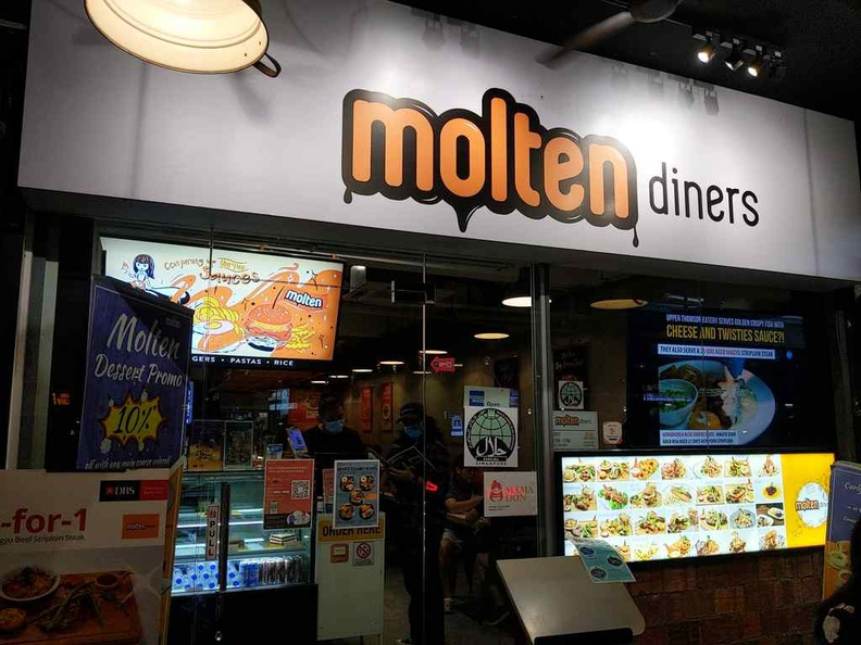 The store front of Molten diners along Thompson road