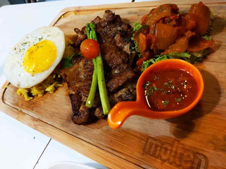 Molten Butter rice platter with chicken.
