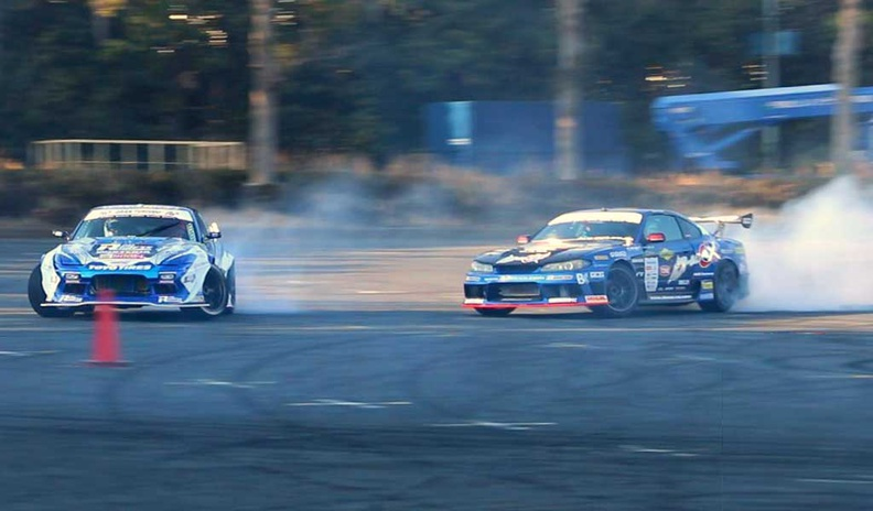 The Tokyo Auto Salon outdoor drift is a main spectacle