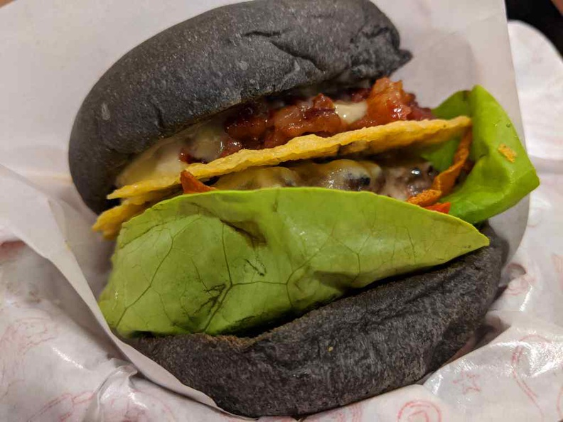 Your burgers are nicely served with leafy lettuce and generous servings of melted cheese. It is a joy