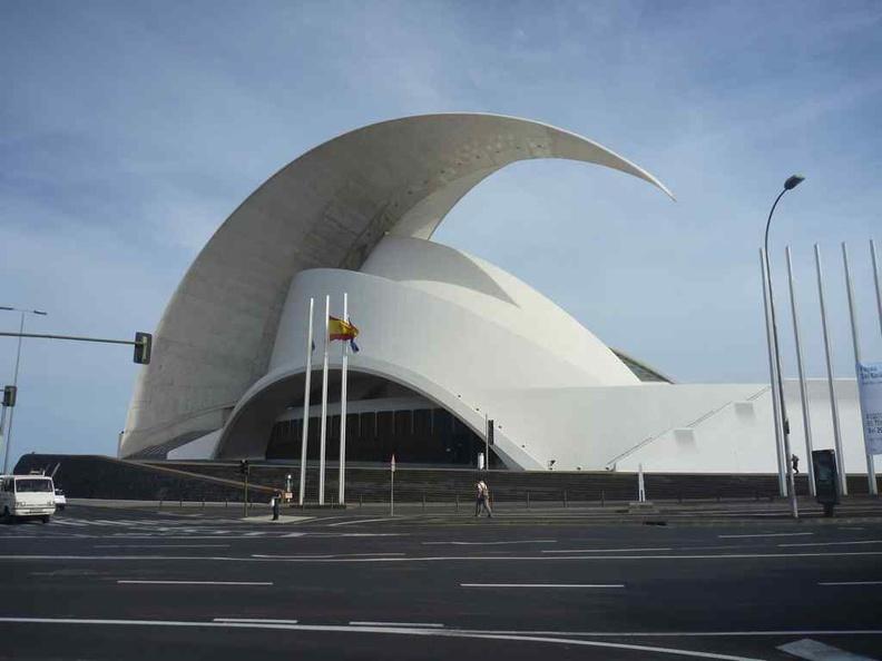 Santa Cruz seashell-looking seafront arts complex & auditorium building