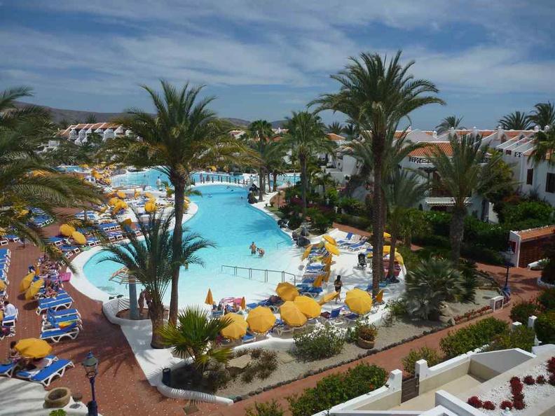 Tenerife Canary Islands resort pool area