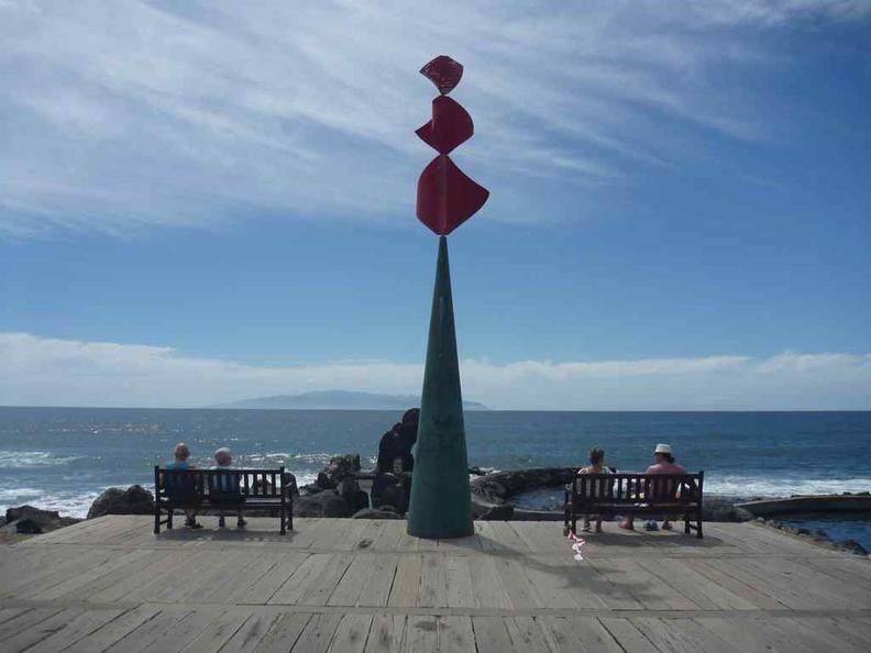 Tenerife Canary Islands Beach boardwalk artwork