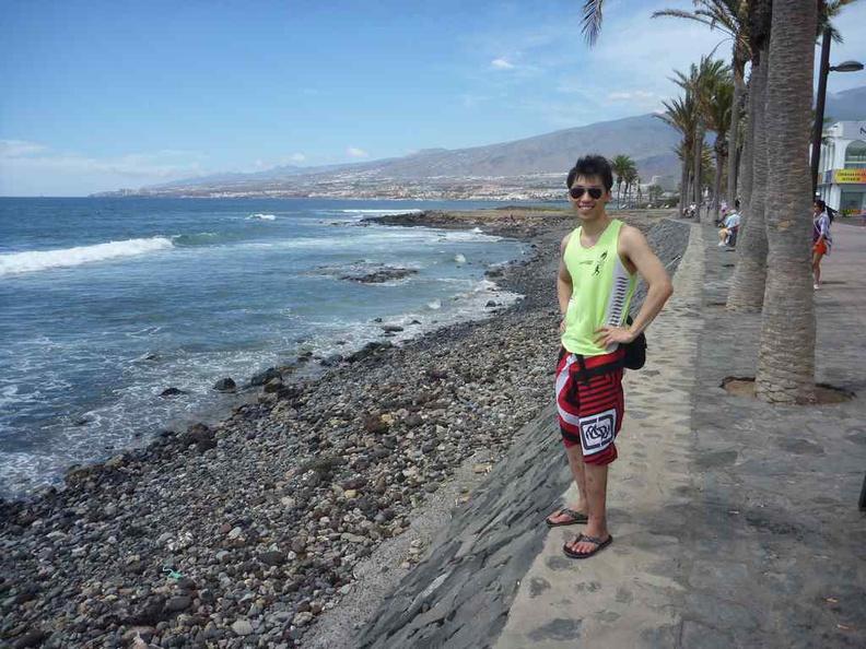 Tenerife Canary Islands on the beach line
