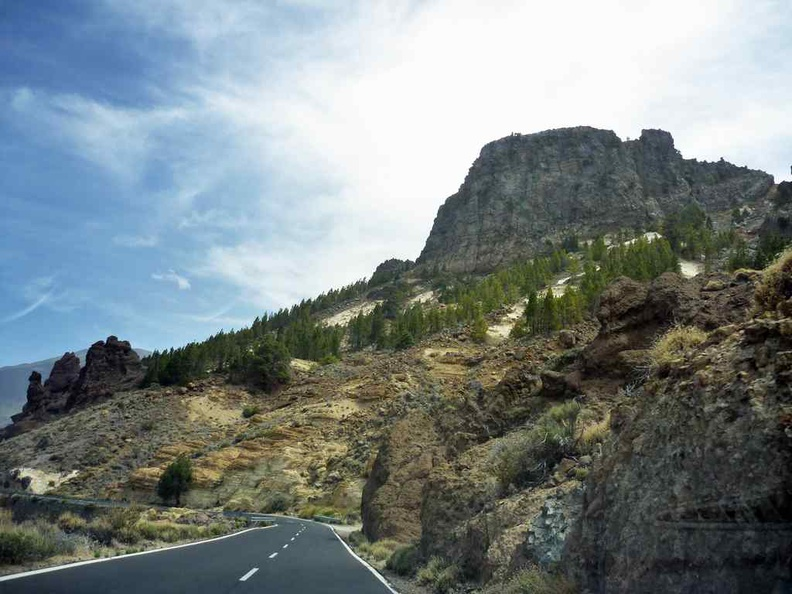 Rock formations on the drive up, typical of past Volcanic activity