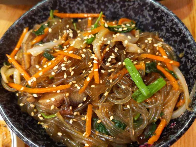Manna story Korean Japachae Glass noodles ($7.80)
