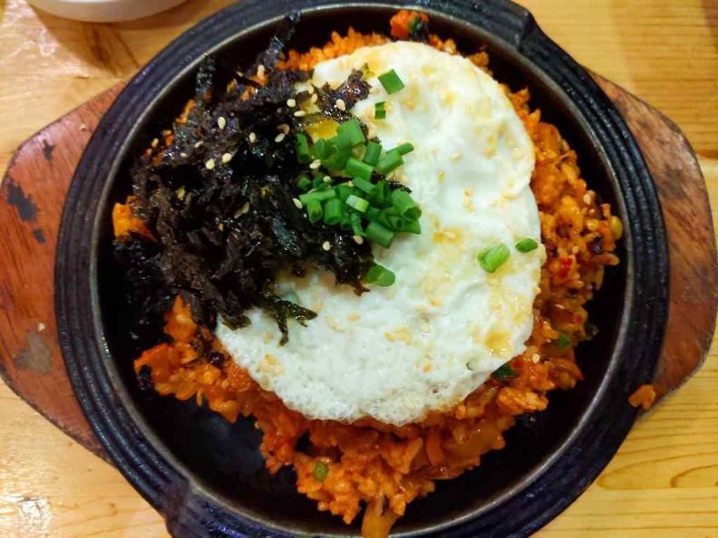 Kimchi rice with egg, Kimchi Bokkeumbap ($10.80)