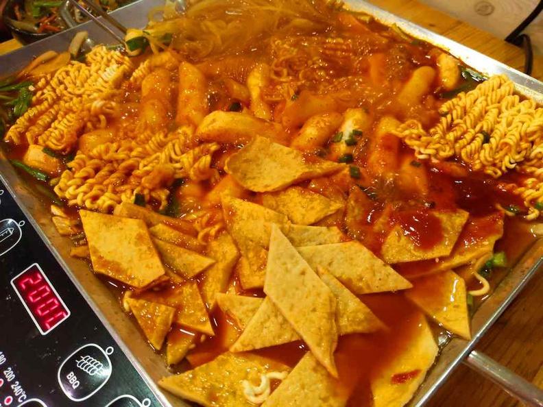 Budae Jigae spicy stew Mega sharing platter