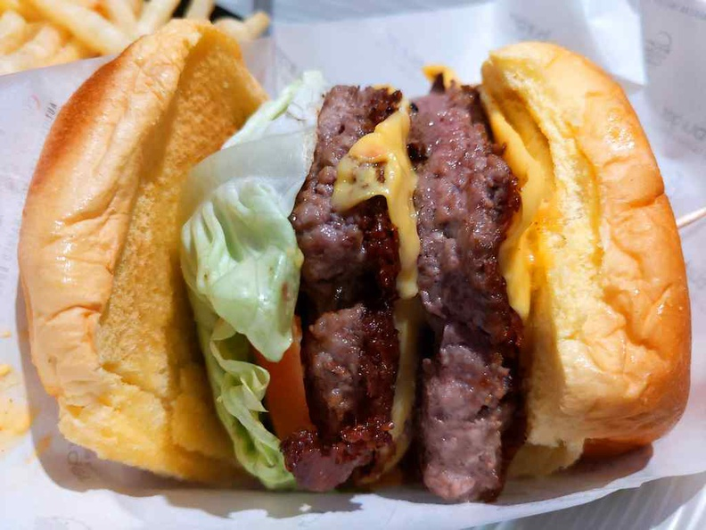 Omakase Burger with additional Impossible meatless patty added ($26.85).
