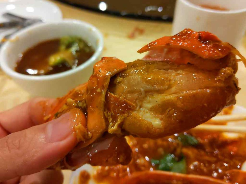 The crab flesh are meaty and largely juicy
