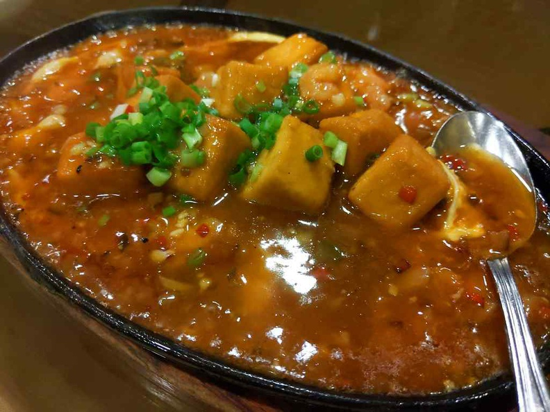You can't go wrong with classic hot plate tofu as a dinner staple. Silky tofu is pan-fried and done well on a hotplate