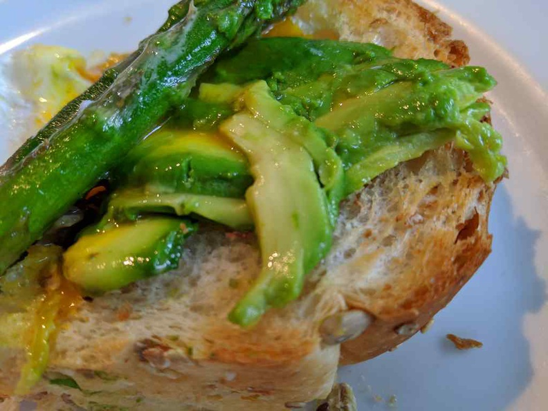 Yep, there are Avocado sandwich- millennial staples here at Wild Honey