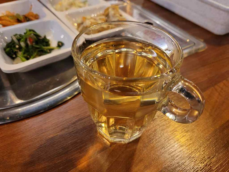 Free flow of wheat tea comes with every meal