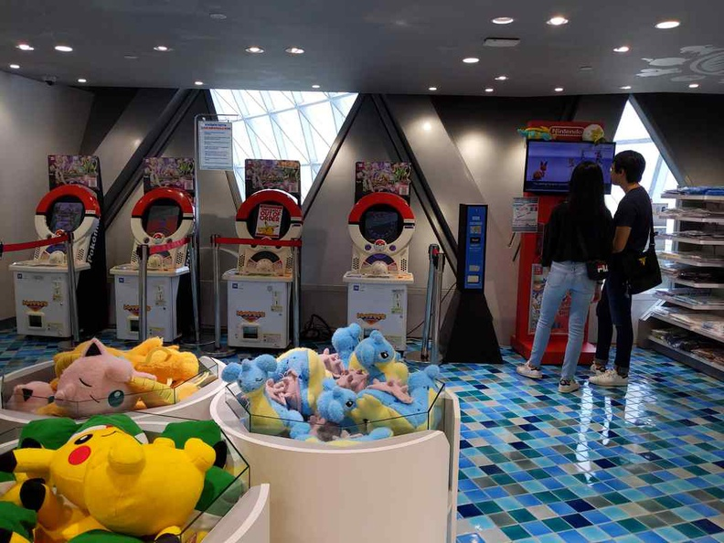 Jewel Pokémon Center rear gaming area