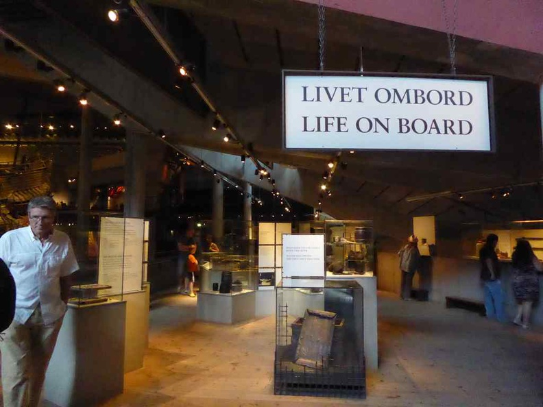 Minor museum section showcasing various artifacts and featuring life on-board
