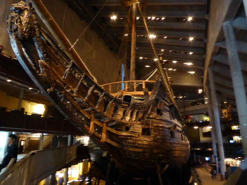 The bow of the Vasa