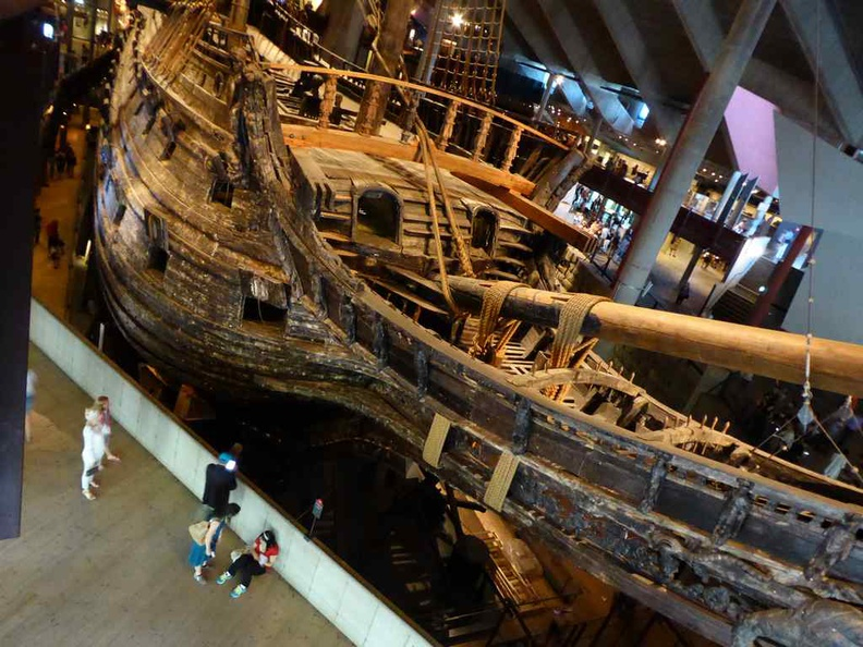The mighty Vasa warship which takes center stage in the Vasa museum. It is a huge behemoth