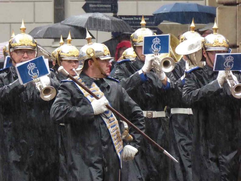 Guards March in the rain