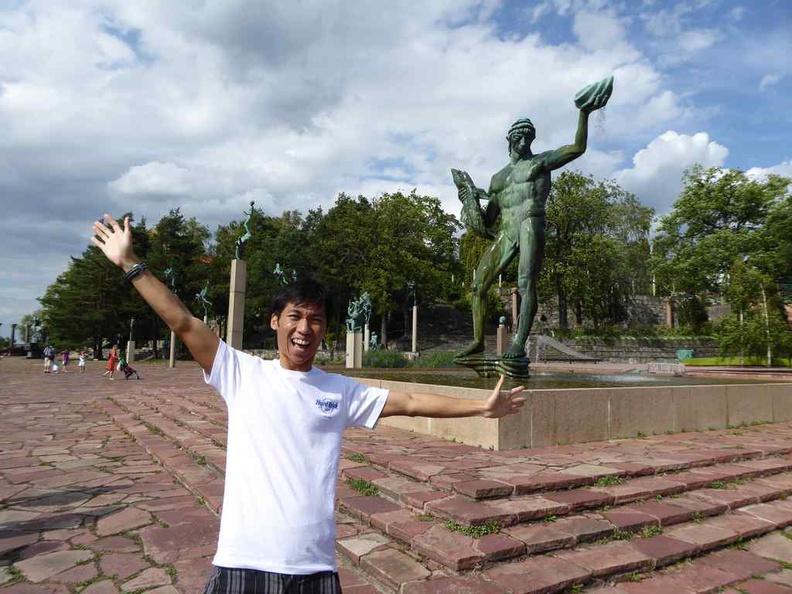 Sculptures garden at Stockholm Millesgarden