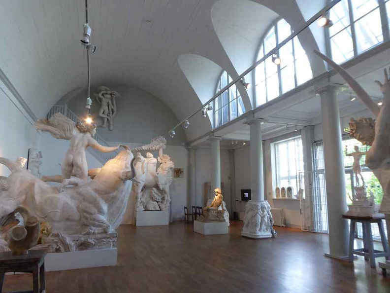 The interior galleries of the Stockholm Millesgarden artist home