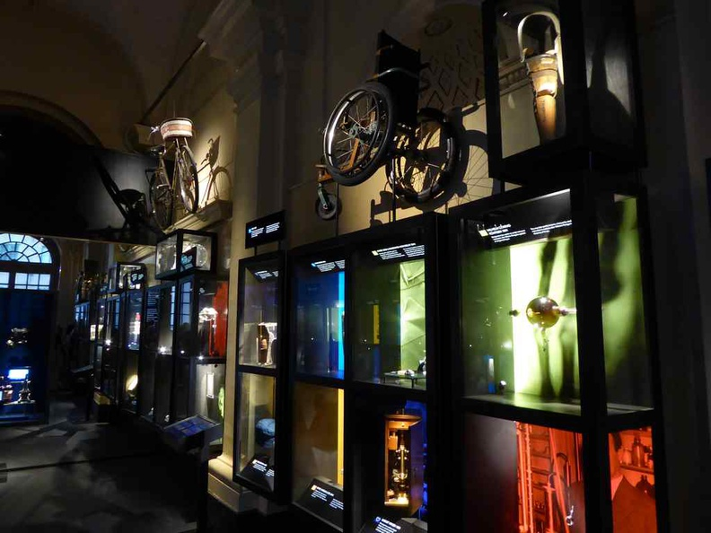 Stockholm Nobel Museum Cabinets physical displays of various Nobel achievements