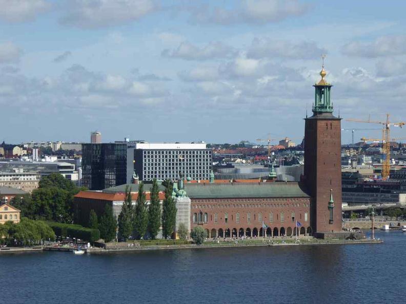 Stockholm city hall on main Stockholm island