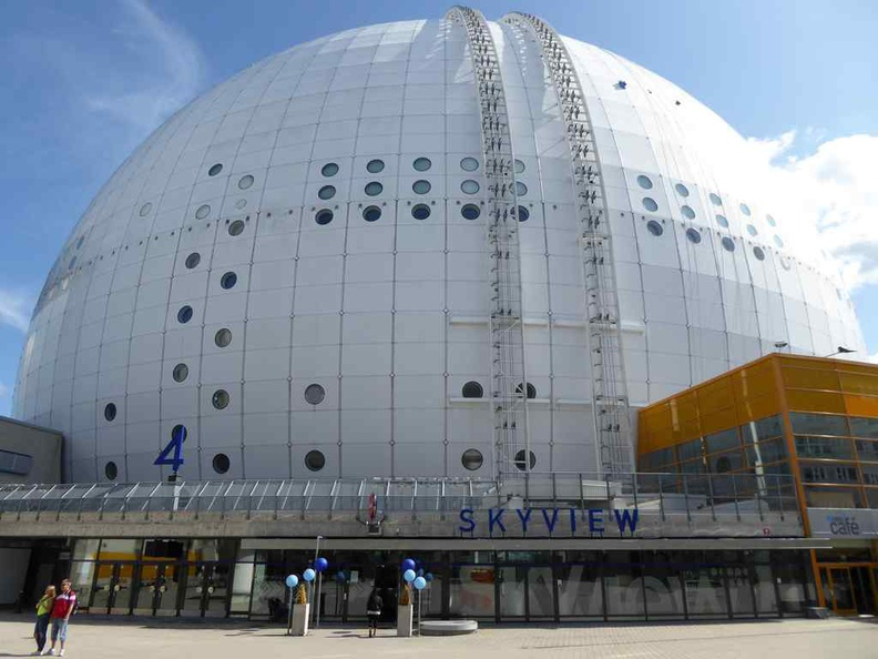 The Ericsson globe, its pretty large and can be seen from most parts of Central Stockholm island