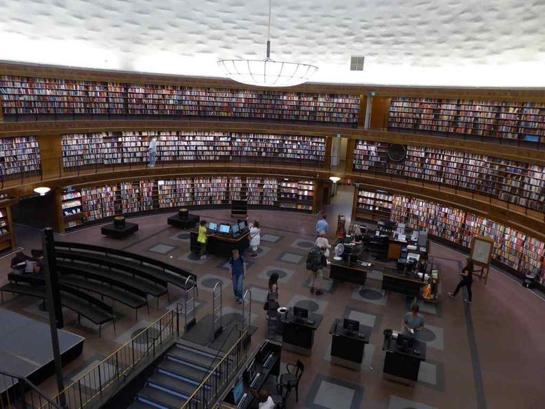 Inside Stockholm City library