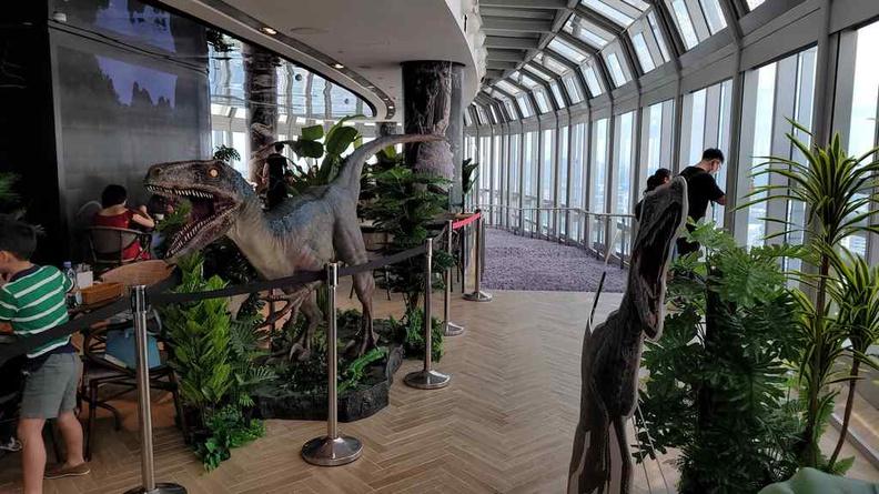 Jurassic World Cafe Ion Sky entry walkway