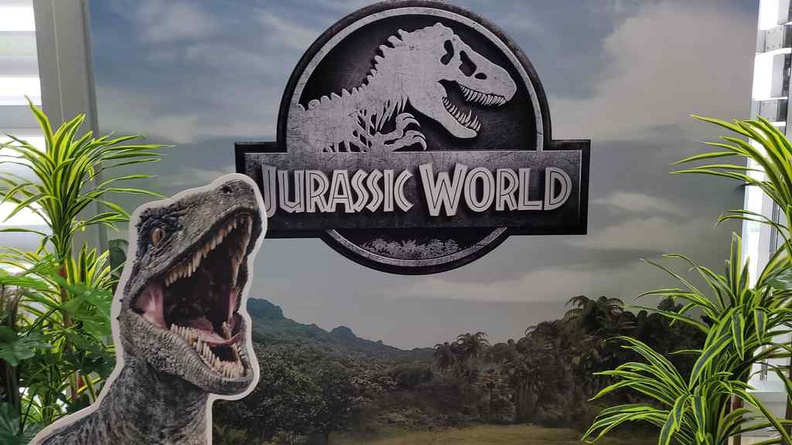 Welcome to Jurassic World Cafe at Ion Sky. We have Raptors