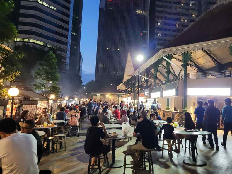 Outdoor satay club is business as usual
