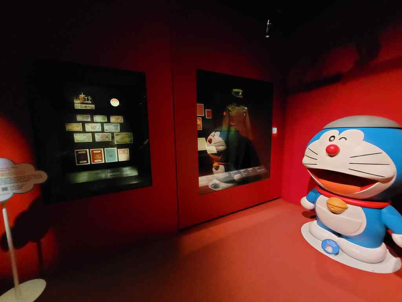 In the Japanese occupation section at the Doraemon national museum exhibit