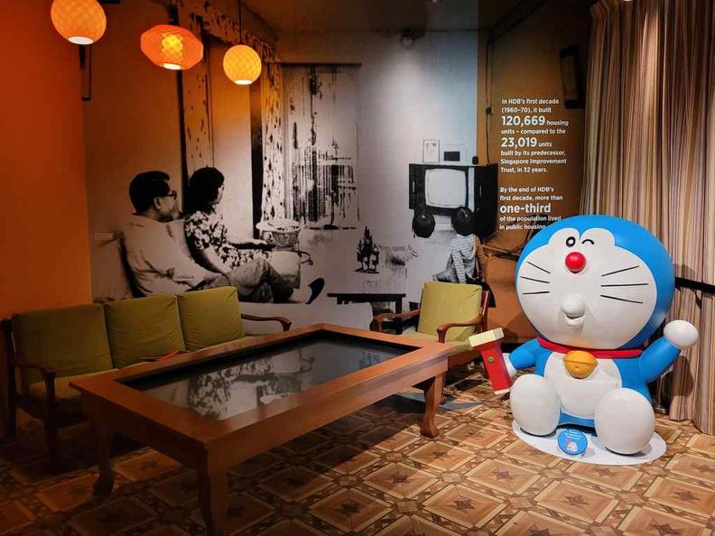 Doraemon at home at Doraemon national museum exhibit
