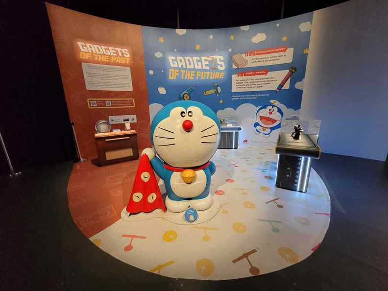 The new Gadgets of the Past & Future section at the end of the Doraemon national museum exhibit gallery