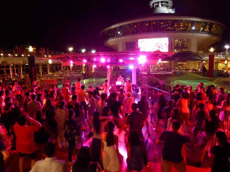 Night pool deck dances Royal Caribbean Mariner of the Seas