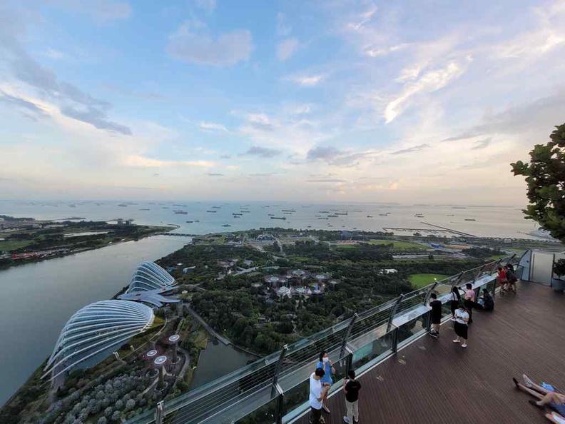 View from Ce va li Marina Bay Sands dining area