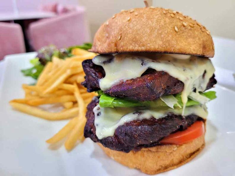 Wooftopia chicken burger