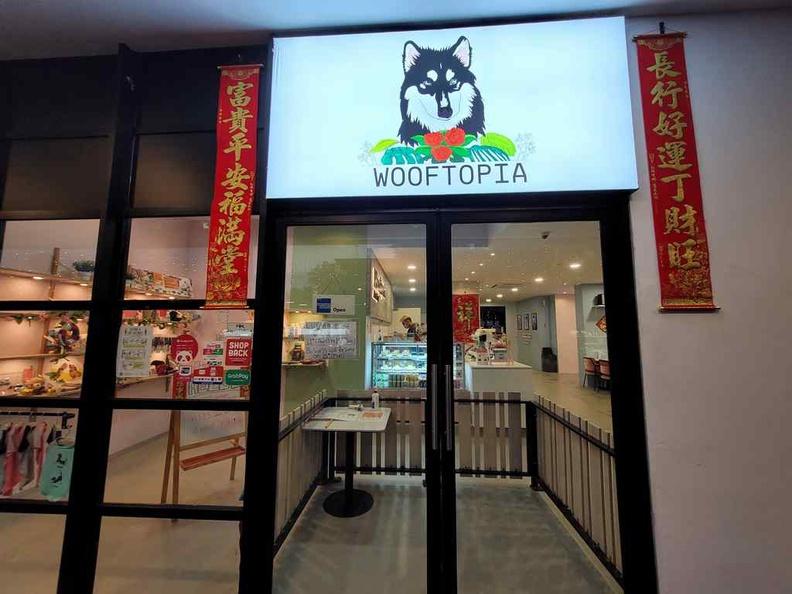 Wooftopia Pet Cafe entrance