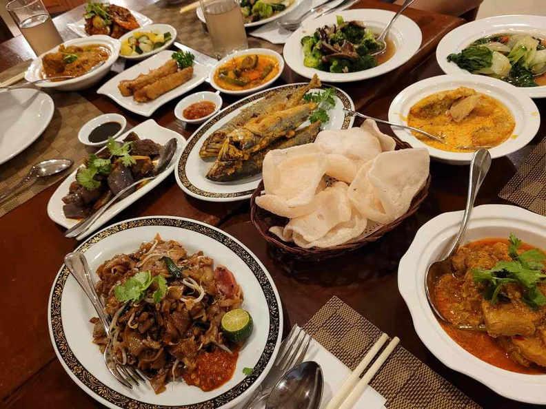 Check out the spread, a Peranakan gastronomical affair at Sun Cafe Peranakan Buffet